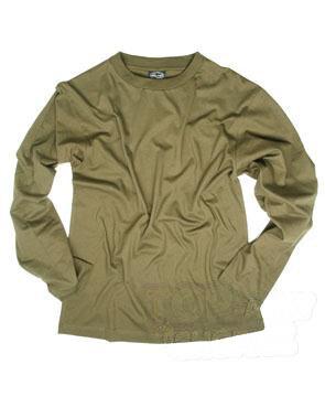 Bavlnené tričko s dlhým rukávom Mil-Tec® - olív (Farba: Olive Green , Veľkosť: S)
