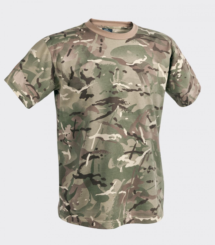 Bavlnené tričko ARMY Helikon-Tex® s krátkym rukávom (Farba: Mud Brown, Veľkosť: 3XL)