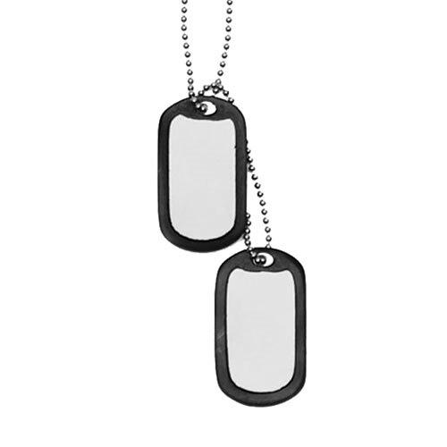 US ID známky DOG TAGS Mil-Tec® - strieborné (Farba: Strieborná / čierna)