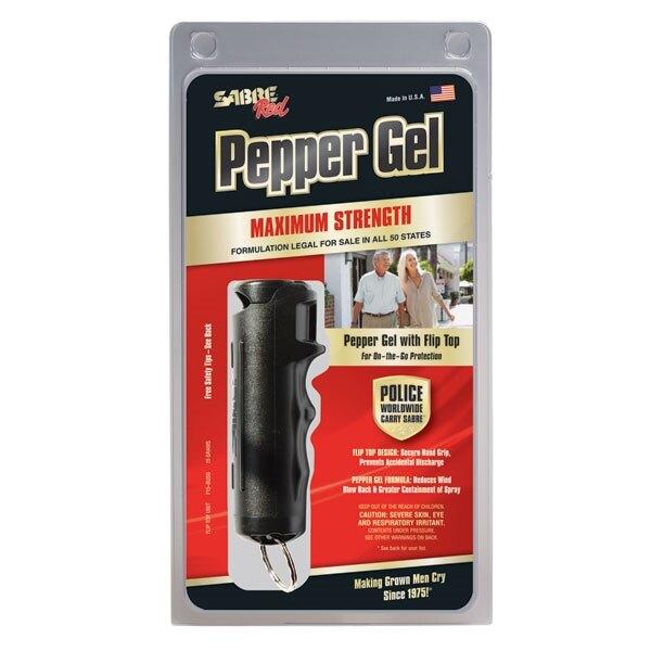 Obranný pepřový sprej SABRE Red® Flip Top Gel - čierny (Farba: Čierna)