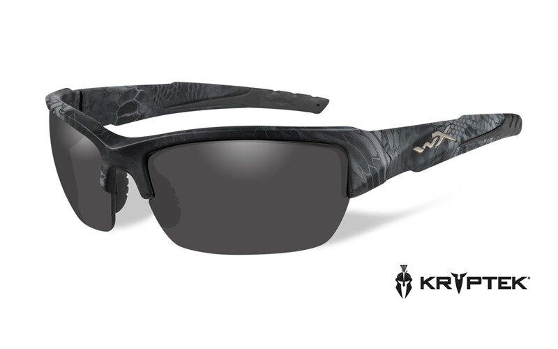 Slnečné okuliare Wiley X® Valor - rámik čierny, dymovo sivé šošovky polarizované (Farba: Kryptek Typhon™, Šošovky: Dymovo sivé polarizované)