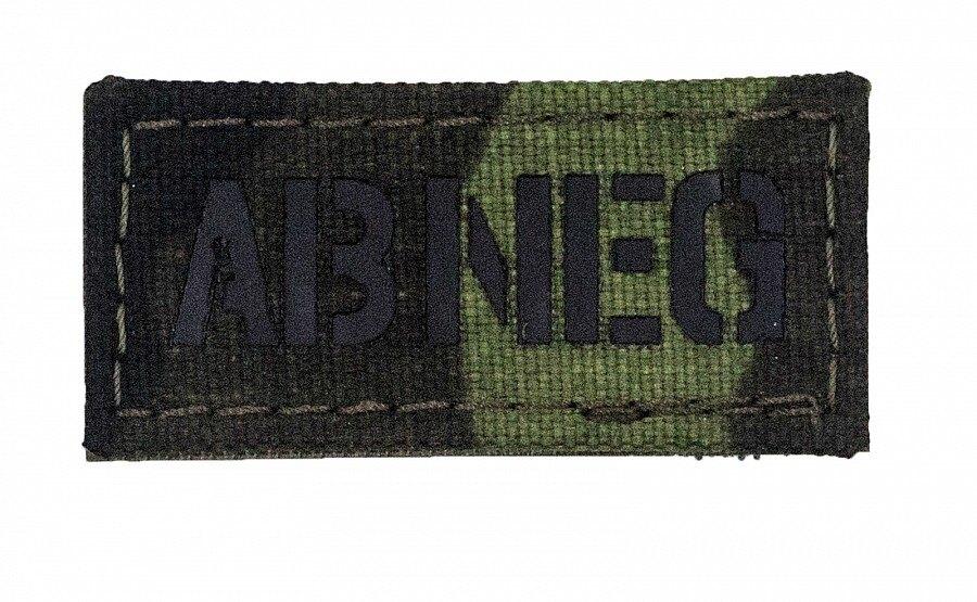 Nášivka AČR IR Combat Systems® krvná skupina AB NEG - vzor 95