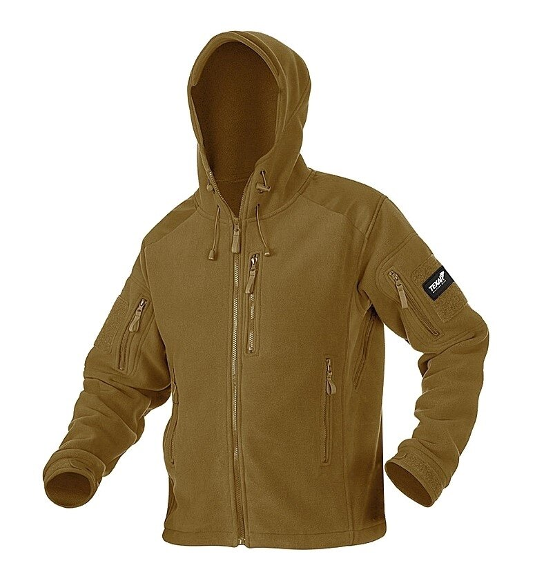 Fleecová bunda Texar® Husky - Coyote (Farba: Coyote, Veľkosť: S)