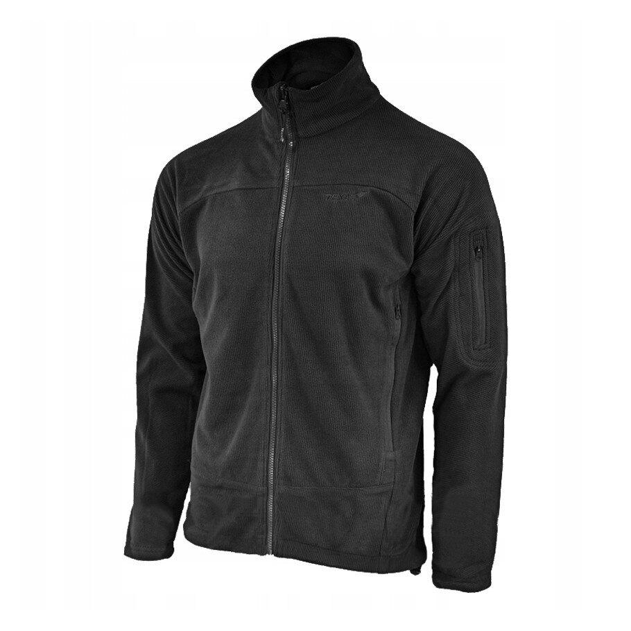 Fleecová mikina Texar® Conger - čierna (Farba: Čierna, Veľkosť: XXL)