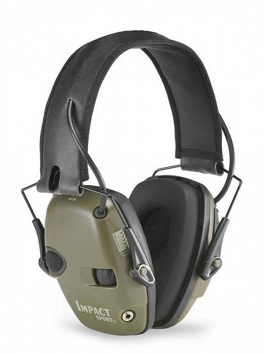 Elektronické slúchadlá Impact SPORT® Howard Leight Honeywell® - zelená (Farba: Zelená)