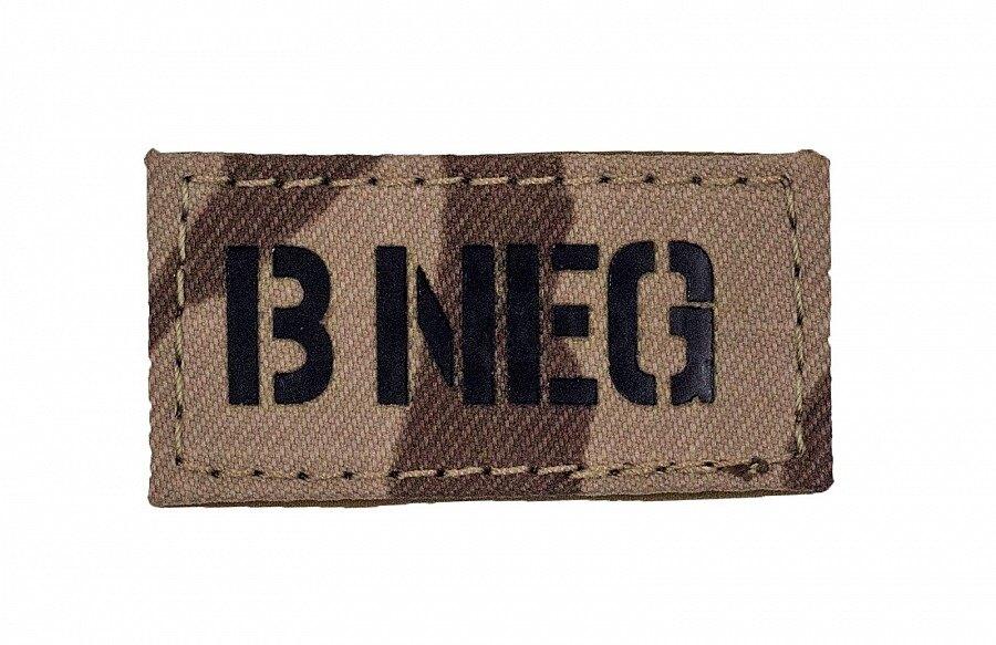 Nášivka AČR IR Combat Systems® krvná skupina B NEG - vzor 95 Púšť
