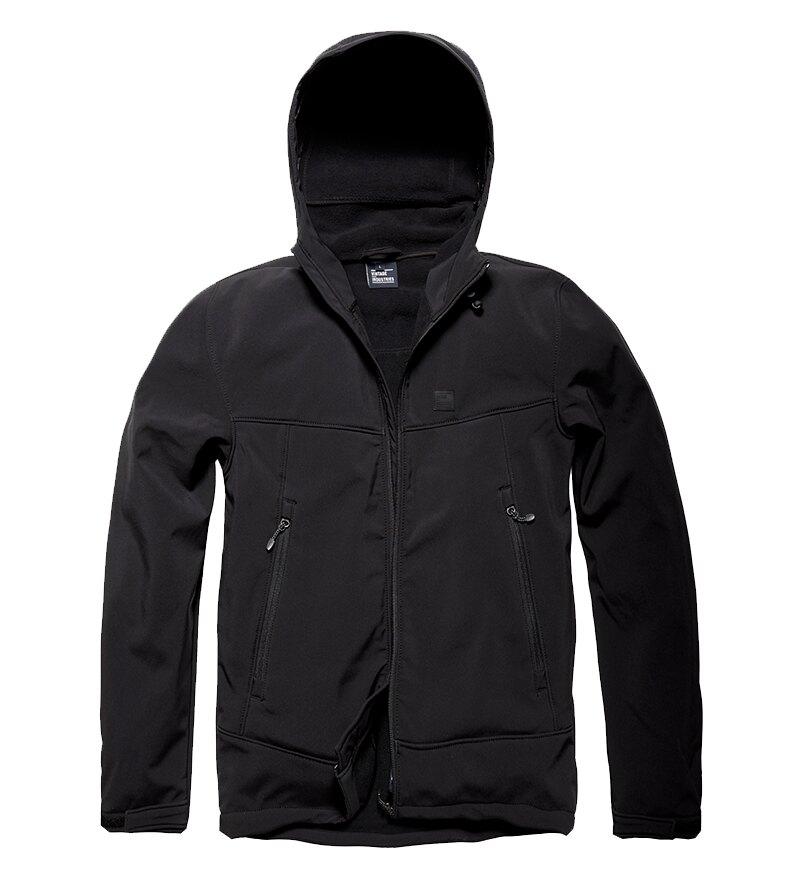 Bunda softshell Alford Vintage Industries® - čierna (Farba: Čierna, Veľkosť: M)