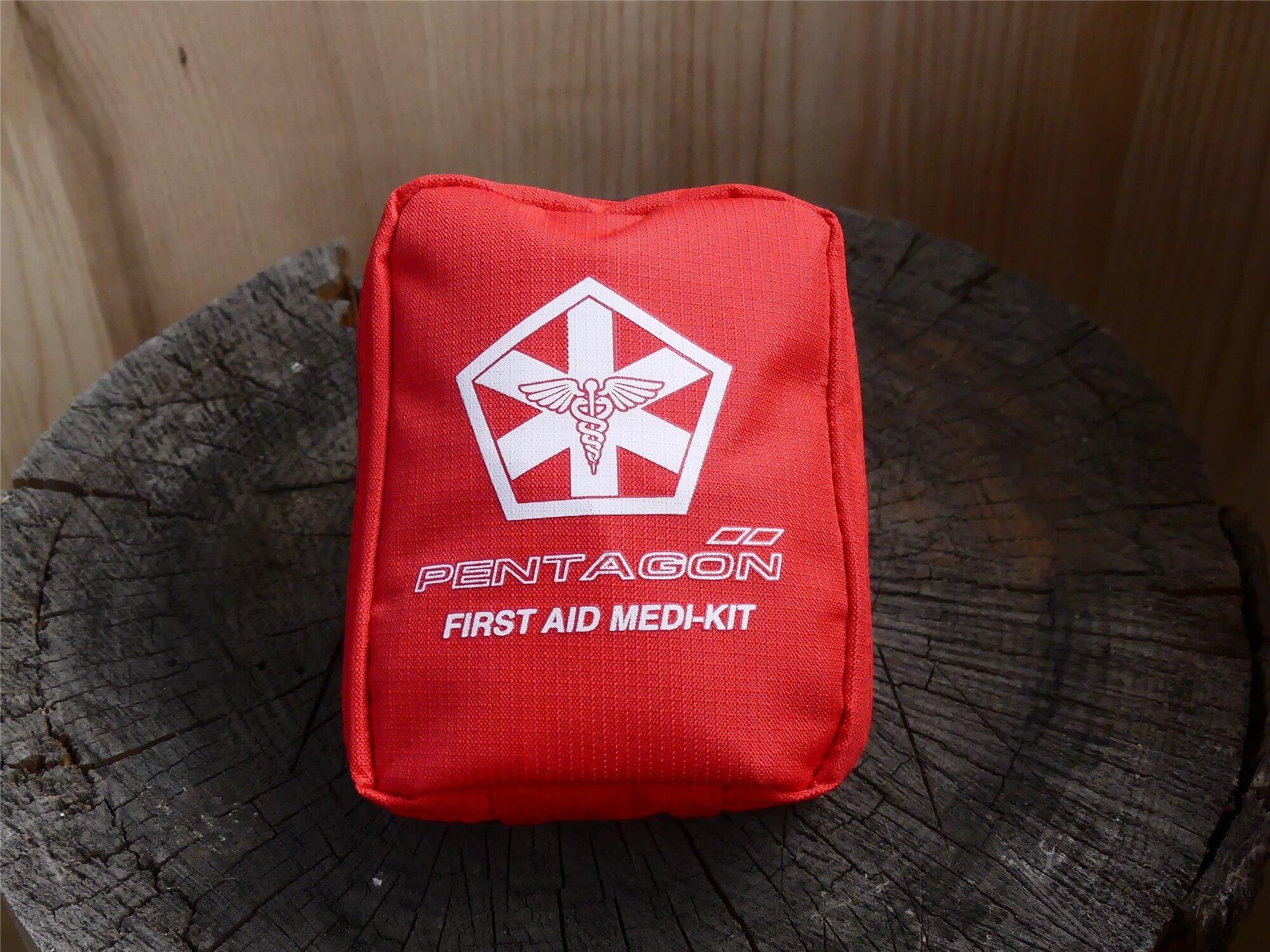 Lekárnička PENTAGON® Hippokrates Medikit - červená (Farba: Červená)
