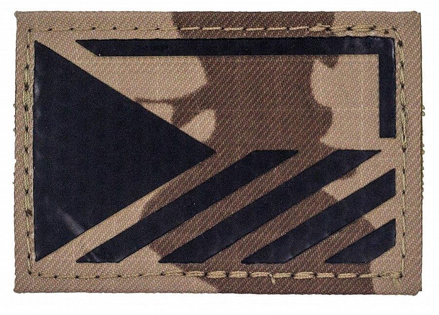 Vlajka ČR Combat Systems® rozlišovací AČR IR – Vzor 95 desert (Farba: Vzor 95 desert, Varianta: levá strana)