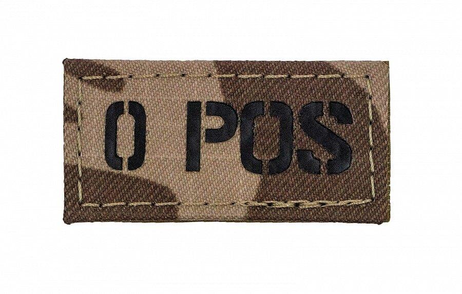Nášivka AČR IR Combat Systems® krevní skupina 0 POS - Poušť (Farba: Vzor 95 desert)