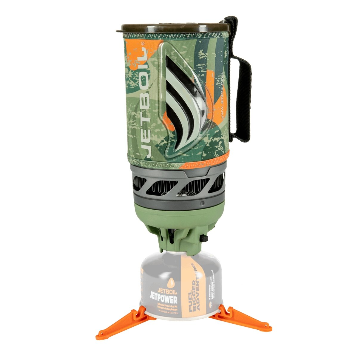 Plynový vařič Flash JETBOIL® - JetCamo (Farba: Zelená, Varianta: JetCamo)