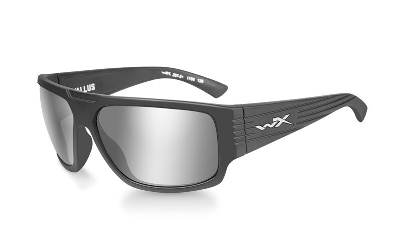 Slnečné okuliare Wiley X® Vallus - rámček Graphite, strieborné zrkadlové šošovky (Farba: Graphite, Šošovky: Strieborné zrkadlové)