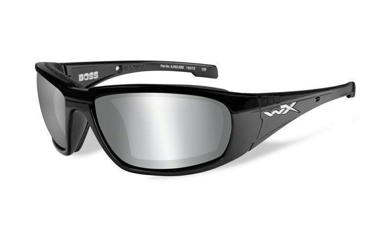 Slnečné okuliare Wiley X® Boss - rámik čierny, strieborné zrkadlové šošovky (Farba: Čierna, Šošovky: Strieborné zrkadlové)