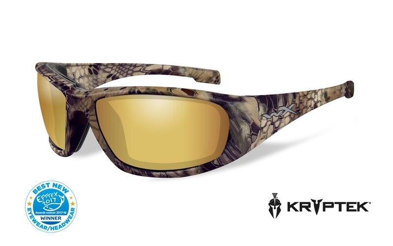 Slnečné okuliare Wiley X® Boss - rámček Kryptek Highlander™, zlaté zrkadlové šošovky Amber polarizované (Farba: Kryptek Highlander™, Šošovky: Zlaté zr