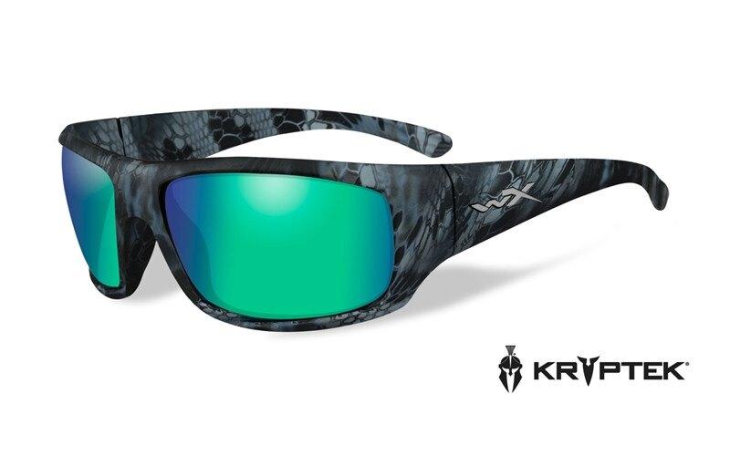 Slnečné okuliare Wiley X® Omega - rámček Kryptek Neptune™, modré zrkadlové šošovky Emerald Amber polarizované (Farba: Kryptek Neptune™, Šošovky: Modré