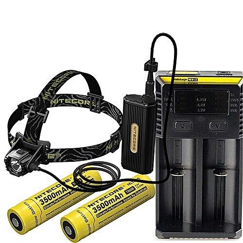 Čelovka - náhlavné LED svietidlo HC 70 Nitecore® - čierna