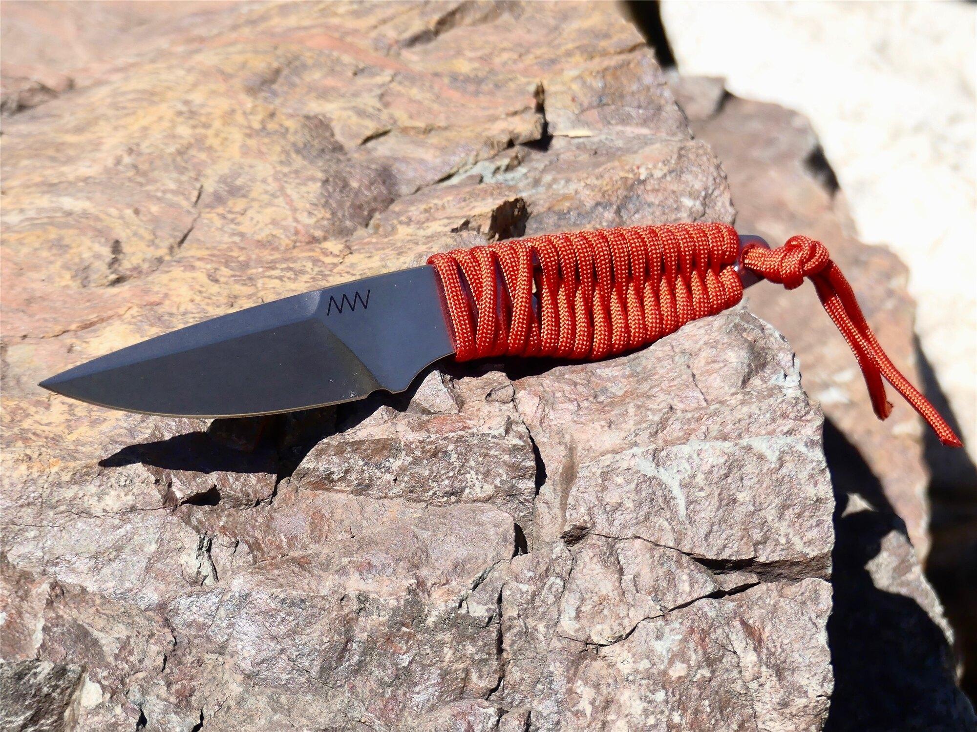 Nôž s pevnou čepeľou ANV® P100 - Blood Red (Farba: Blood Red)