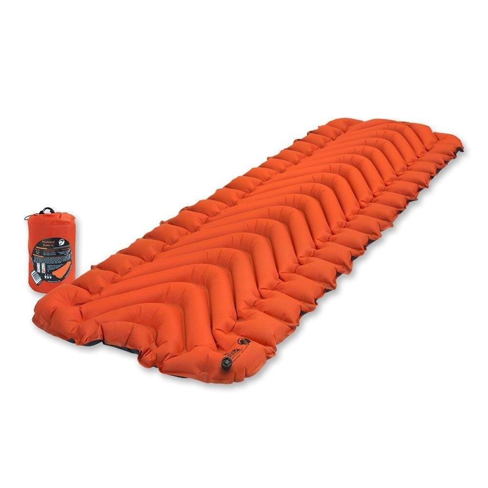 Nafukovacia karimatka Insulated Static V™ Klymit® - oranžová (Farba: Oranžová)