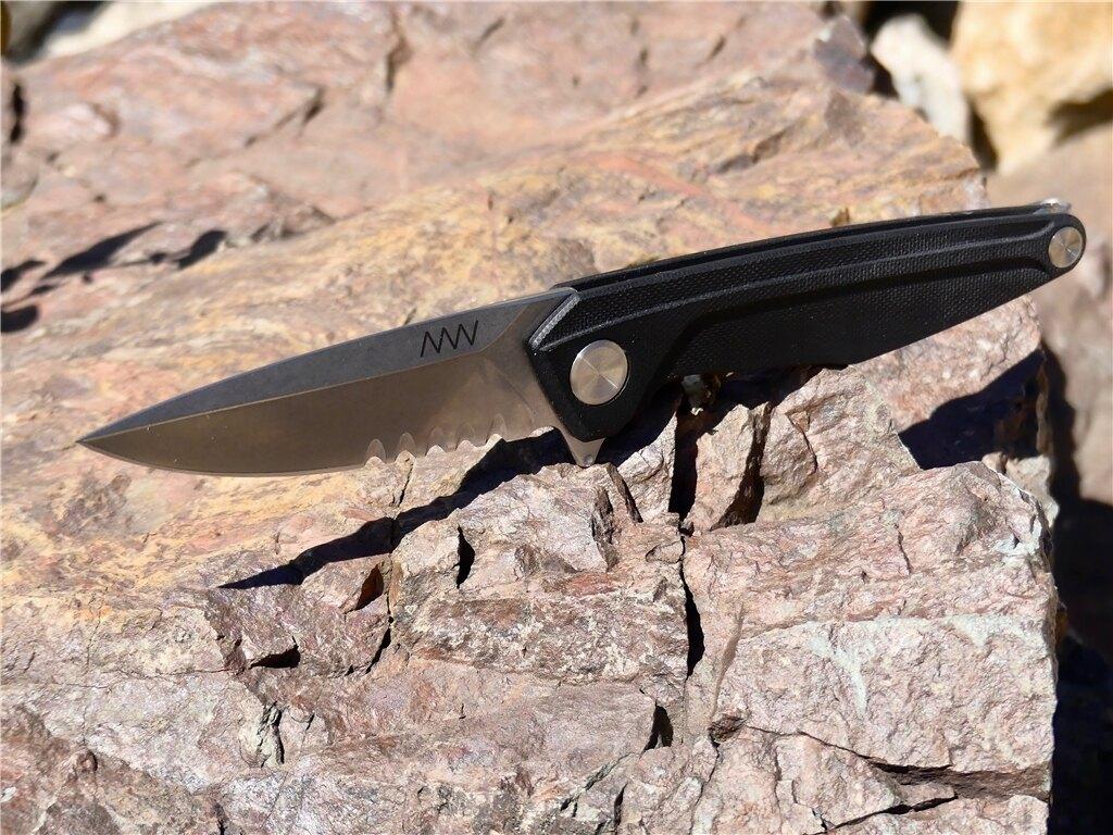 Zatvárací nôž ANV® Z300 s kombinovaným ostrím G10 Liner Lock