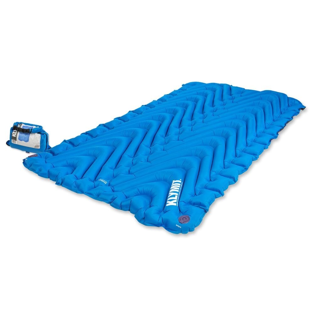 Nafukovacia karimatka Double V Klymit® - modrá