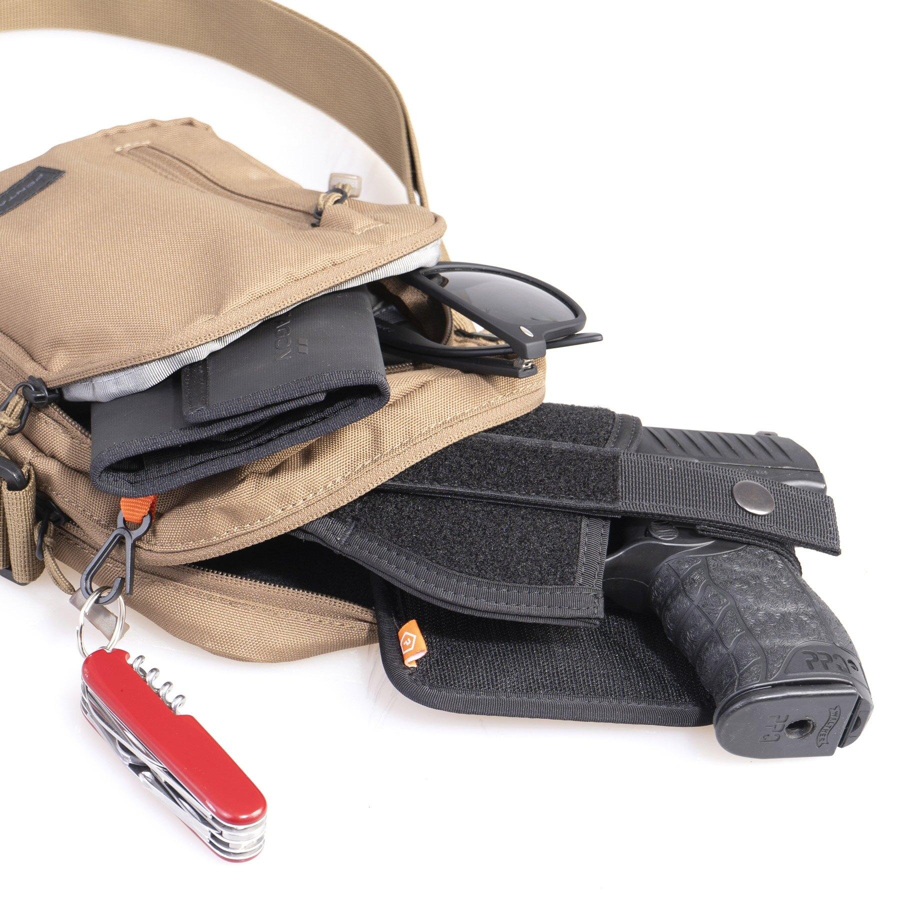 Taška cez rameno PENTAGON® Kleos Messenger - čierna (Farba: Čierna)
