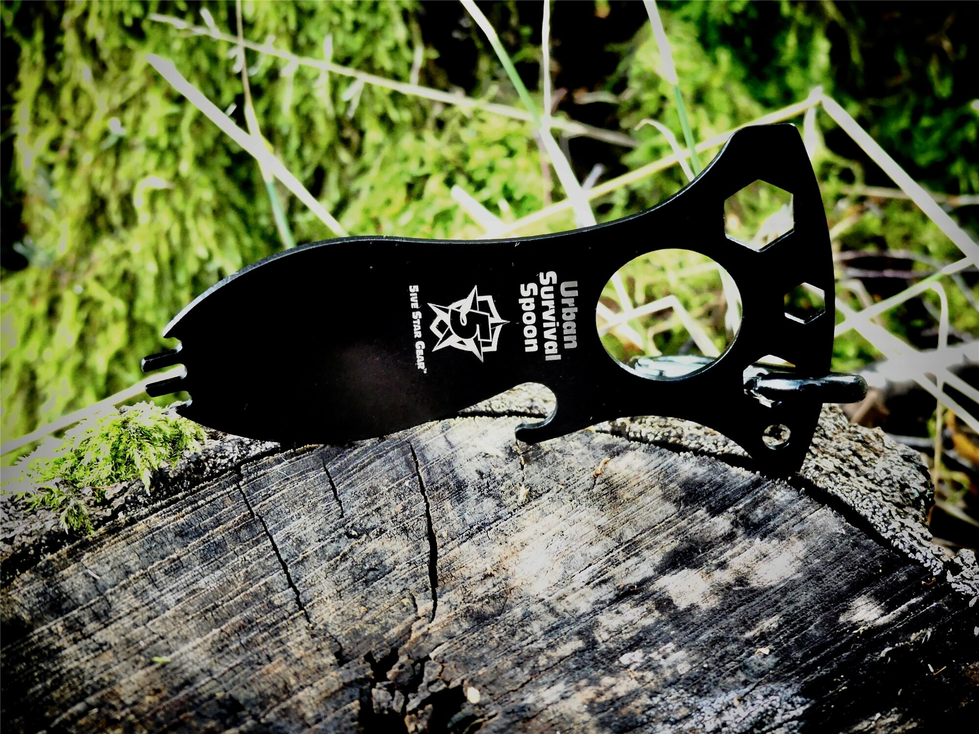 Survival Spoon - 5ive Star Gear® – Čierna (Farba: Čierna)