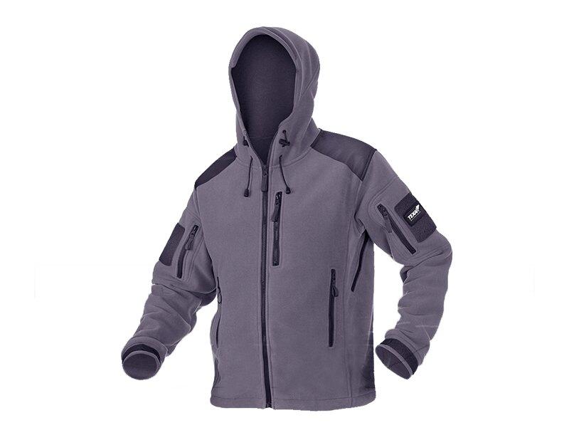 Fleecová bunda Texar® Husky - sivá (Farba: Sivá, Veľkosť: 3XL)