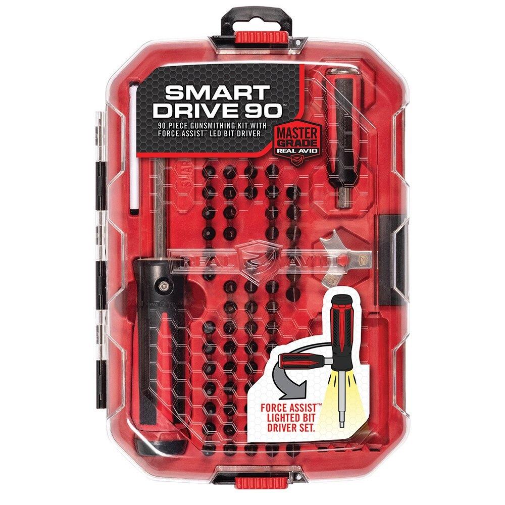 Real Avid® Smart Drive 90 servisná sada na zbrane – Čierna / červená (Farba: Čierna / červená)