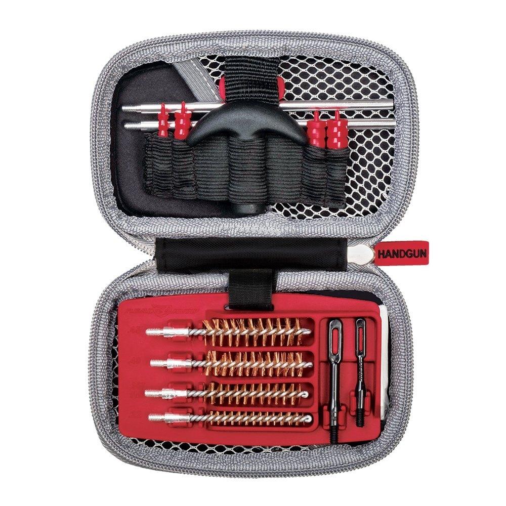 Real Avid® Gun Boss Handgun – čistiaca sada pre krátke zbrane – Čierna / sivá (Farba: Čierna / sivá)