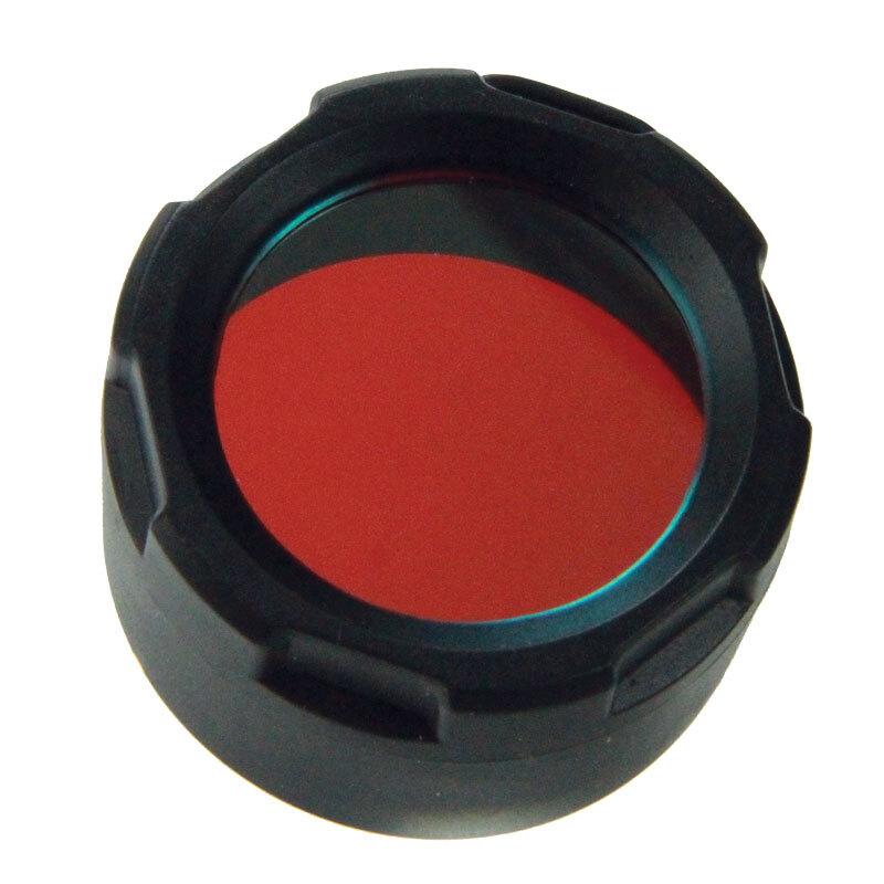 Filter na svietidlo Powertac® (pre modelov Cadet, E5, E9) – Červená (Farba: Červená)