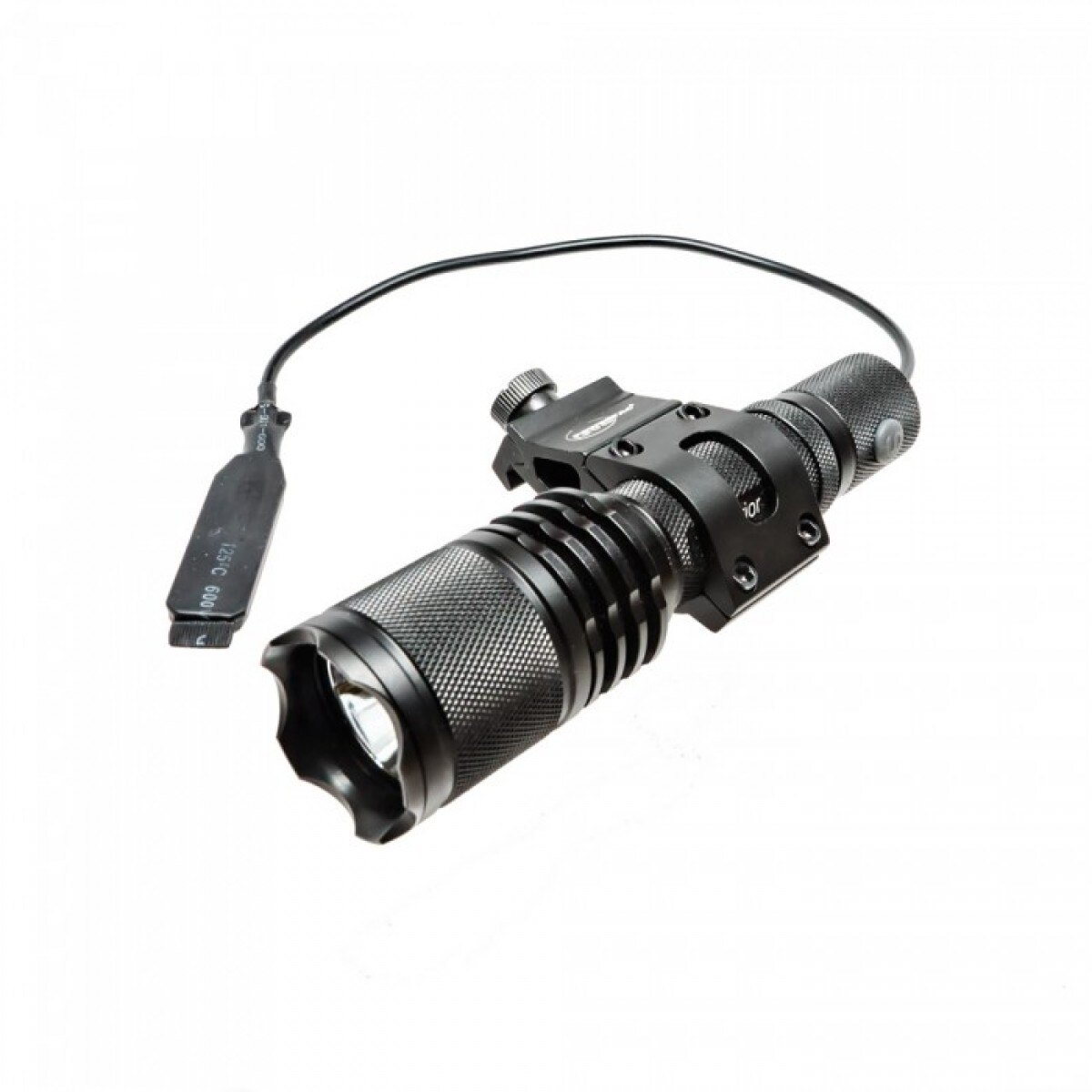 Svietidlový set na zbraň (svietidlo Warrior/uchycení Offset/diaľkový spínač) PowerTac® – Čierna (Farba: Čierna)