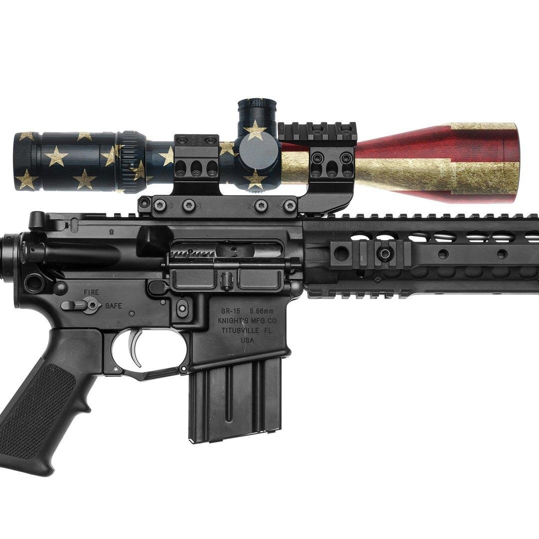 GunSkins® maskovacia páska na optiku – GS® America™ (Farba: GS® America™)