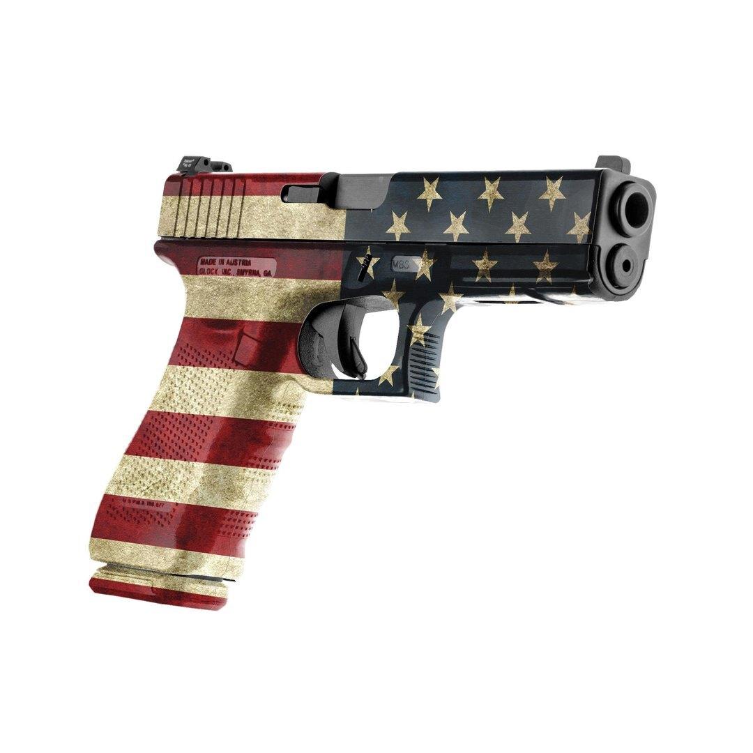 GunSkins® prémiový vinylový skin na pištoľ – GS® America™ (Farba: GS® America™)