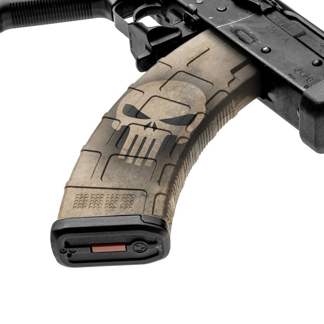 GunSkins® prémiový vinylový skin na zásobník AK-47 – GS® Skull Tan™ (Farba: GS® Skull Tan™)