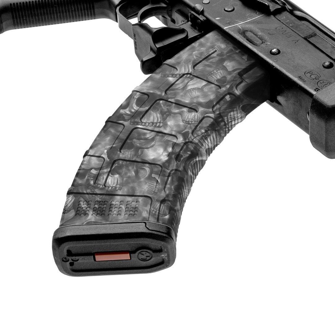 GunSkins® prémiový vinylový skin na zásobník AK-47 – Proveil® Reaper Black™ (Farba: Proveil® Reaper Black™)