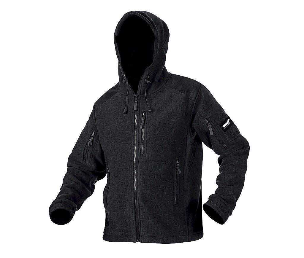 Fleecová bunda Texar® Husky - čierna (Farba: Čierna, Veľkosť: XL)
