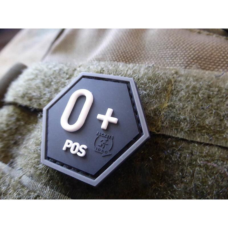 Nášivka JTG® krvná skupina 0+ (Farba: Swat)
