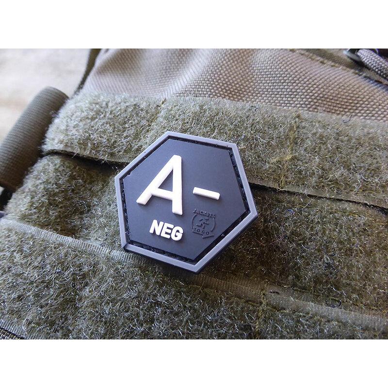 Nášivka JTG® krvná skupina A- (Farba: Swat)