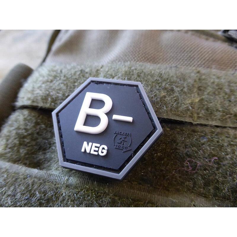 Nášivka JTG® krvná skupina B- (Farba: Swat)