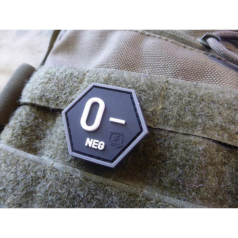 Nášivka JTG® krvná skupina 0- (Farba: Swat)