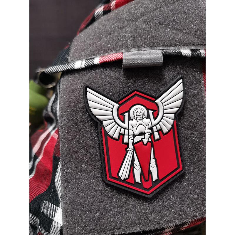 Nášivka Archangel Saint Michael shield JTG® – Červená (Farba: Červená)