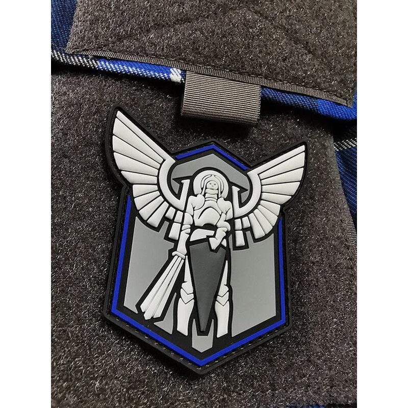 Nášivka Archangel Saint Michael shield JTG® – Modrá (Farba: Modrá)