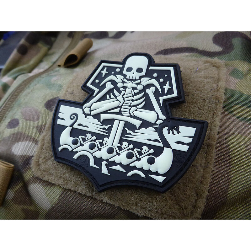 Nášivka GhostShip Skull Version One JTG® (Farba: Gid)