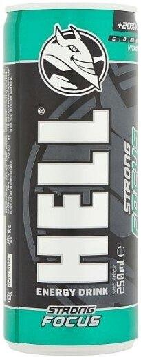 Energy nápoj Strong Focus 250 ml HELL® (Farba: Viacfarebná)
