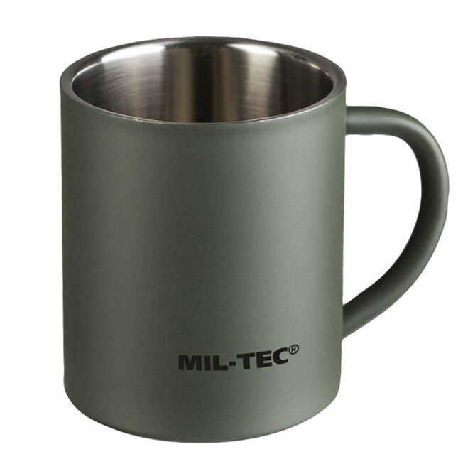 Nerezový termohrnček 450 ml Mil-Tec® (Farba: Zelená)