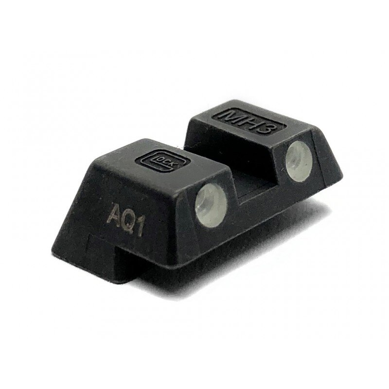Tritiové oceľové hľadí 6,1 mm pre G42 / 43 Glock® – Čierna (Farba: Čierna)
