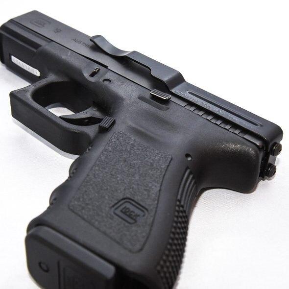 Klip Clipdraw® pre skryté nosenie pištole Glock® 20, 21, 21SF, 29, 30, 30SF, 37, 38, 39, 40 – Čierna (Farba: Čierna)