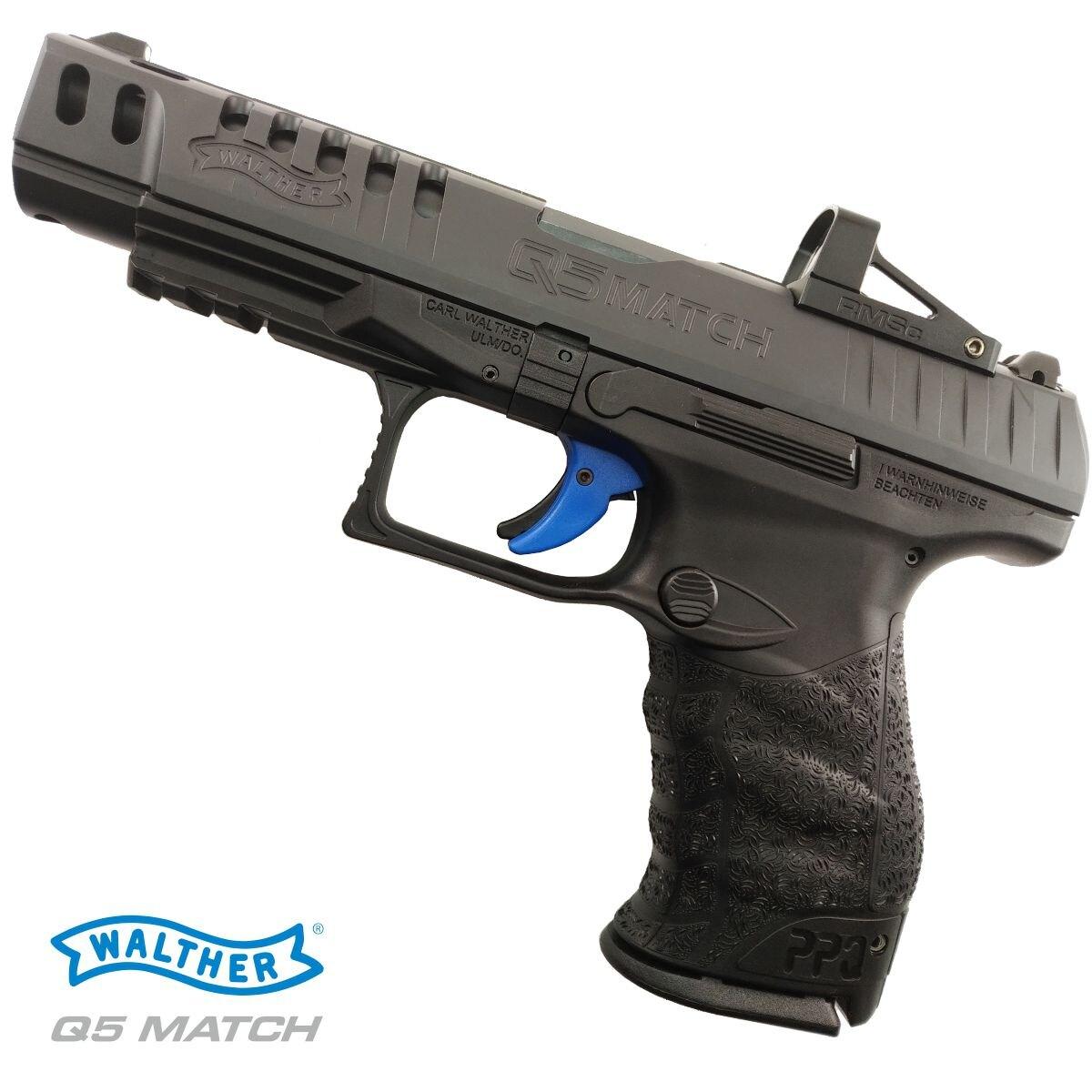 Pištoľ Walther® Q5 Match Combo / kalibru 9x19 – Čierna (Farba: Čierna)