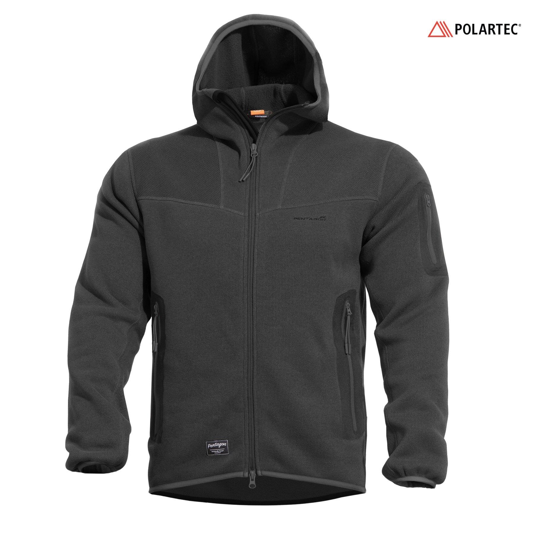 Mikina Falcon Pro Sweater Polartec® Pentagon® – Čierna (Farba: Čierna, Veľkosť: S)