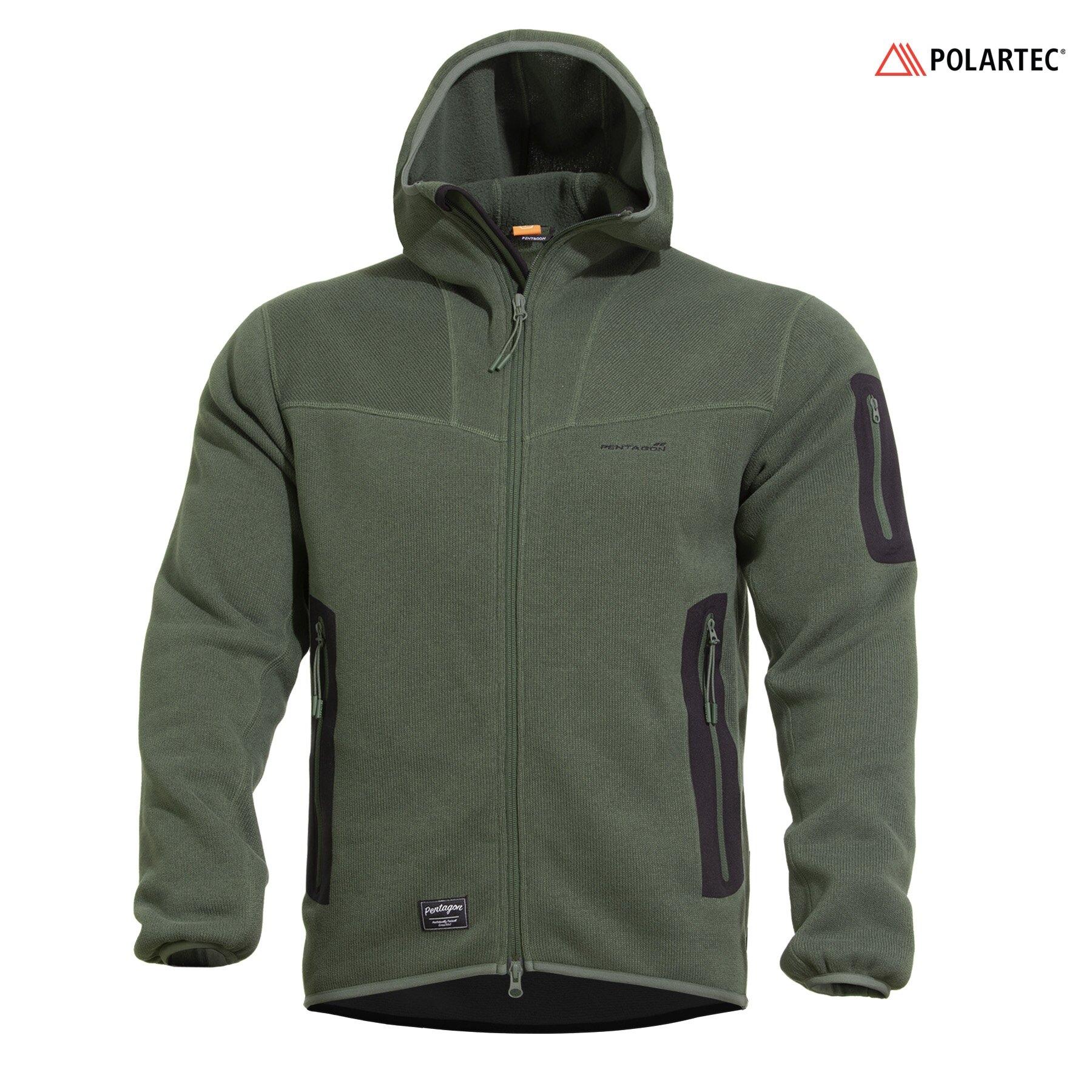 Mikina Falcon Pro Sweater Polartec® Pentagon® – Camo Green (Farba: Camo Green, Veľkosť: XXL)